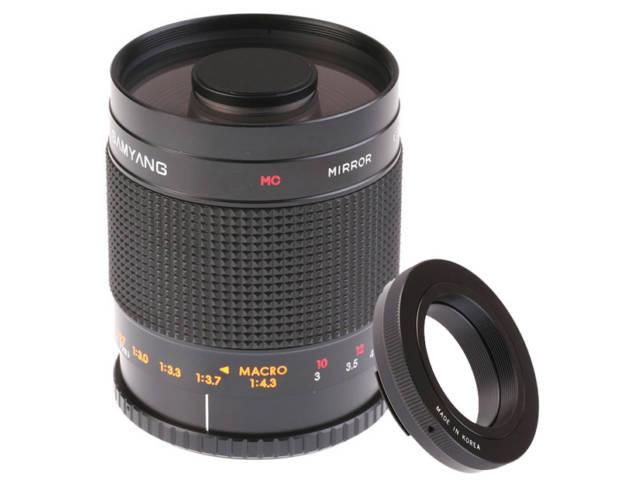 Samyang objectif photo 500 mm f 8 mc if miroir monture t2 for Objectif a miroir