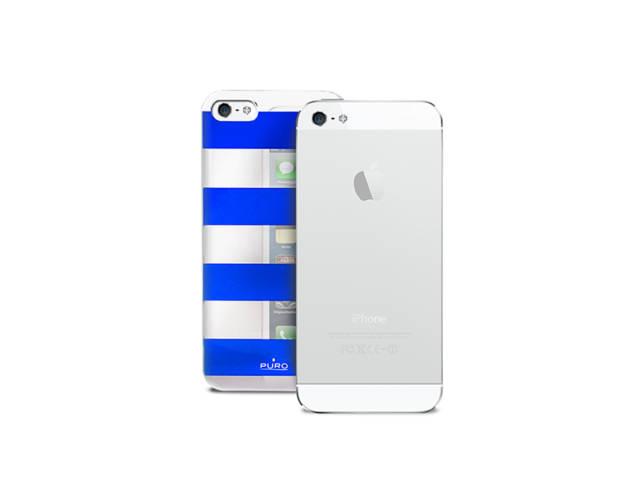 coque puro stripe argent et bleu pour iphone 5 5s. Black Bedroom Furniture Sets. Home Design Ideas