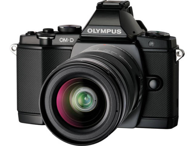 compact hybride olympus om d e m5 objectif 12 50 mm noir. Black Bedroom Furniture Sets. Home Design Ideas