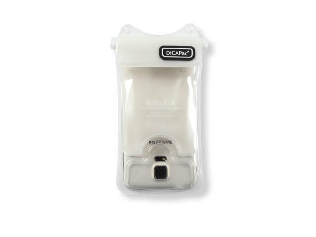 Housse tanche blanche dicapac wp c1 au meilleur prix for Housse etanche smartphone