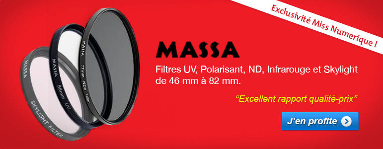 Filtres Massa , uv, polarisant, nd, infrarouge et skylight de 46 � 82mm