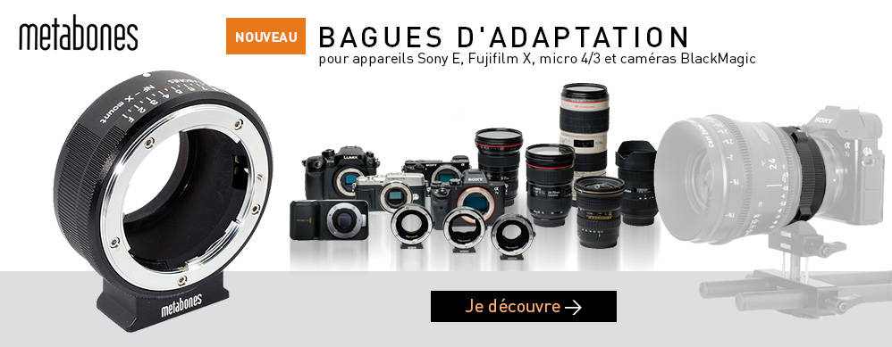 Bagues d'adaptation Metabones