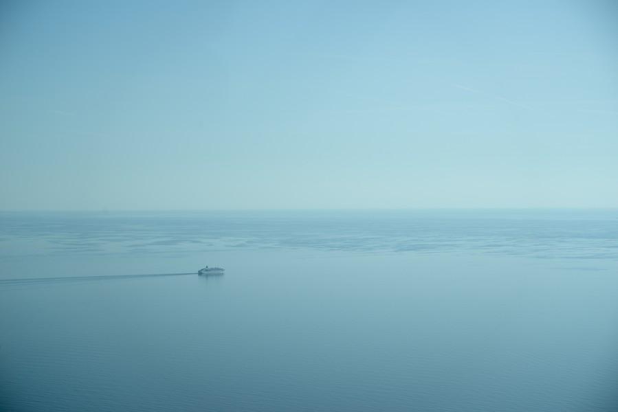 Paysage apaisé de la mer Baltique