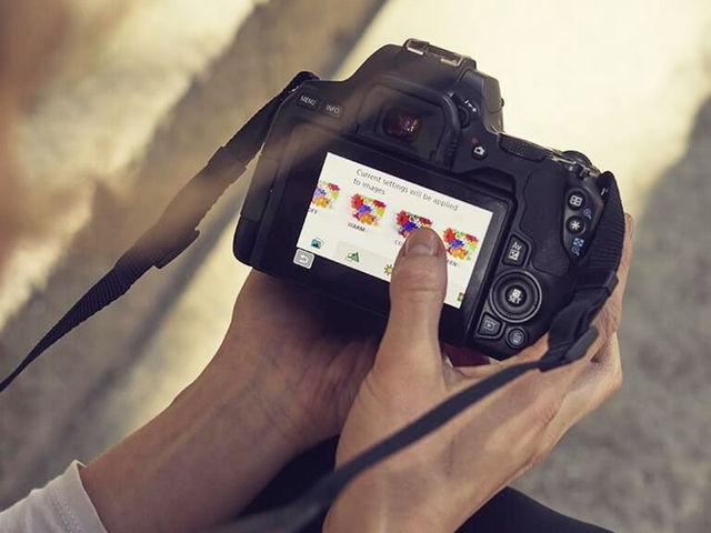 Interface simplifiée du Canon EOS 250D