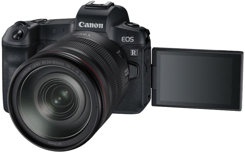 Canon EOS R écran déployé et 24-105 mm