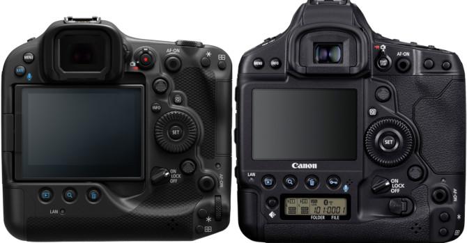 Dos des Canon EOS R3 et 1D X Mk III