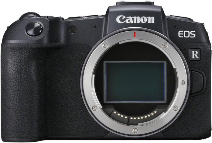 Canon EOS RP nu de face.
