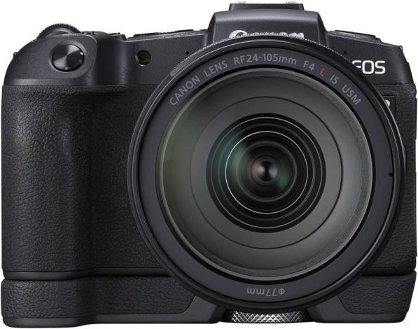 Canon EOS RP avec RF 24-105 mm et semelle optionnelle.
