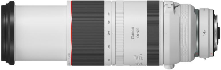 Canon RF 100-500 mm L IS USM monté sur le RF 1,4x