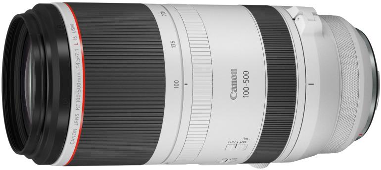 Télézoom Canon RF 100-500mm F4.5-7.1L IS USM