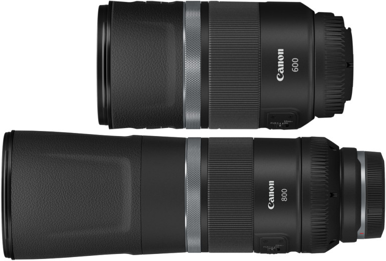 Canon RF 600mm et 800mm F11 IS STM