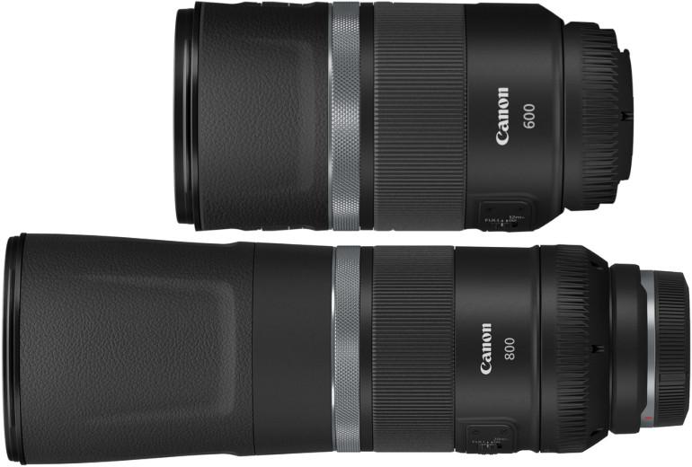 Canon RF 600mm et 800mm F11 IS STM
