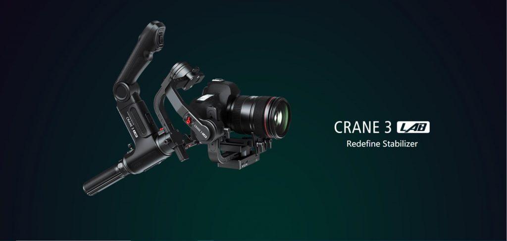 Photo promotionnelle présentant le ZHIYUN Crane 3
