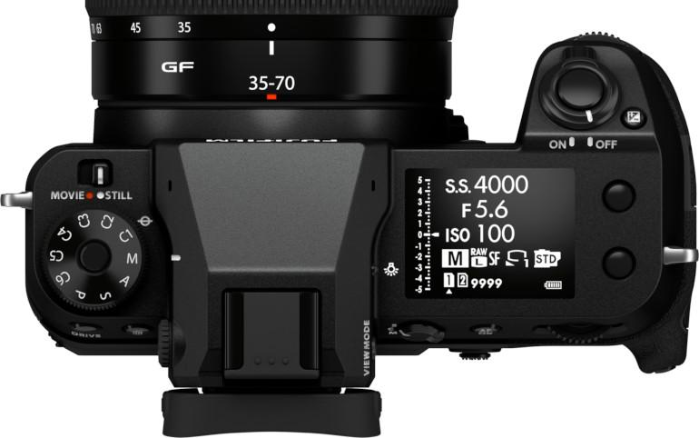 Fujifilm GFX 50S II vu de dessus