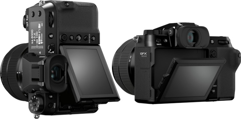 Écran orientable du Fujifilm GFX 50S II