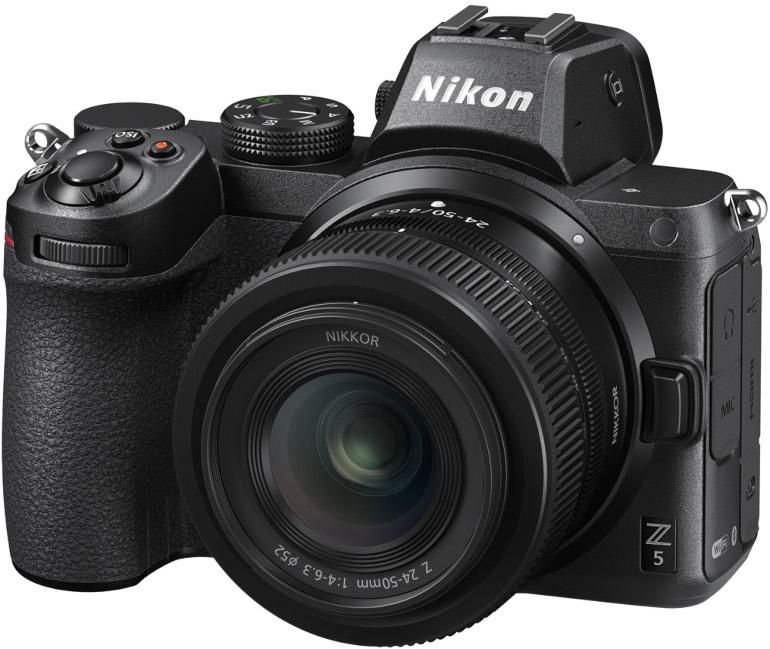 Vue de face du Nikon Z5 et du Nikkor 24-50mm