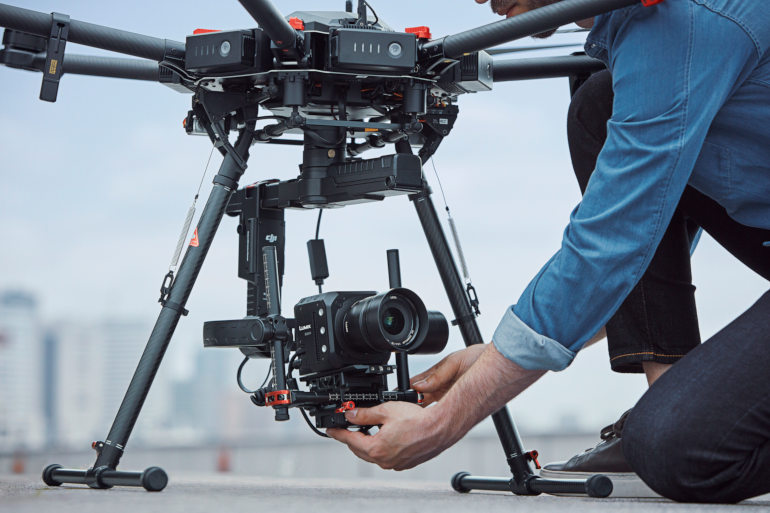 Panasonic BGH1 et 12mm F4 sur un drone