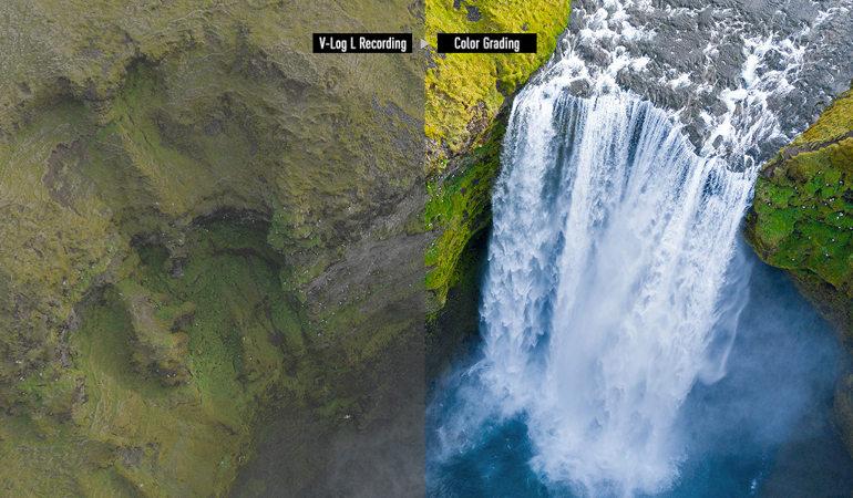 Comparaison V-Log L brut et étalonné