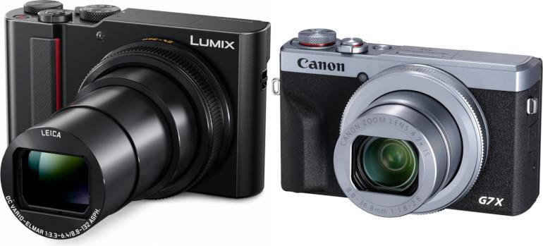 Panasonic TZ200 et Canon G7 X Mk III