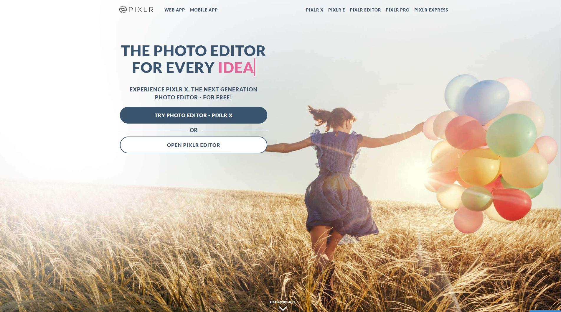 Alternatives Photoshop : Pixlr.