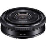 Sony E 20mm f/2,8 (69g)
