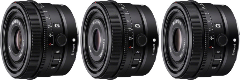 Sony FE 24mm F2.8G, 40mm F2.5G et 50mm F2.5G