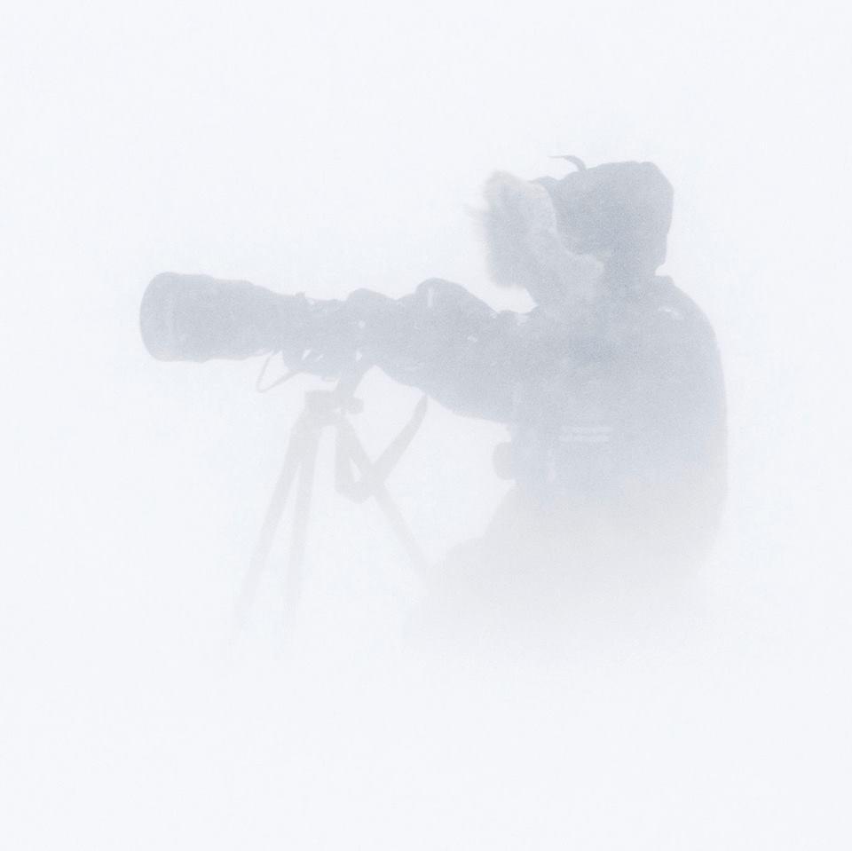 Vincent Munier dans le brouillard de Banks Island (Canada), 2010.