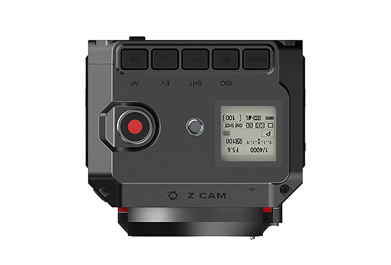 Z Cam E2 : dessus.