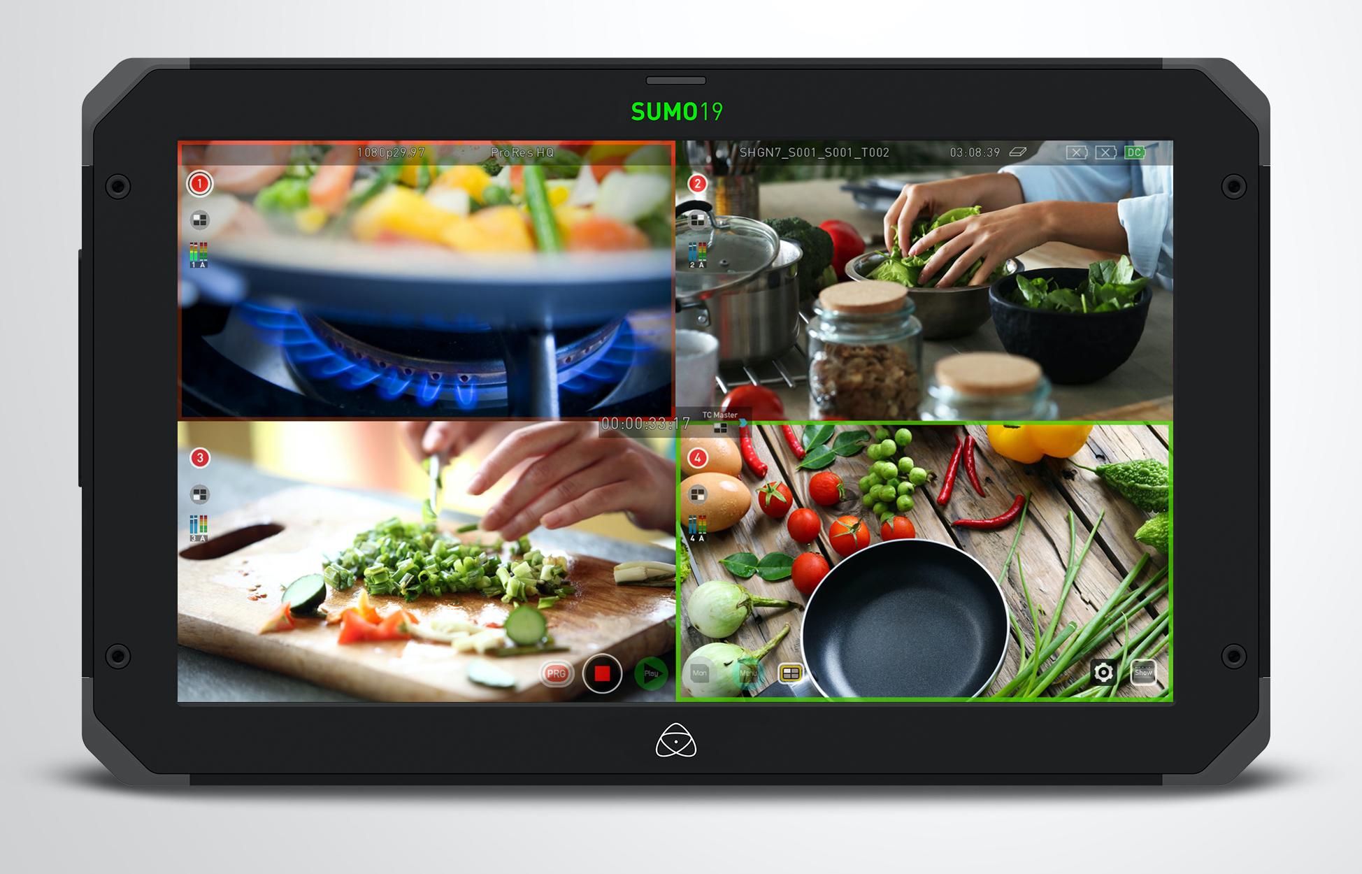 Moniteur vidéo externe : multi écrans.