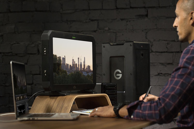 Moniteur vidéo externe : usage post-production.