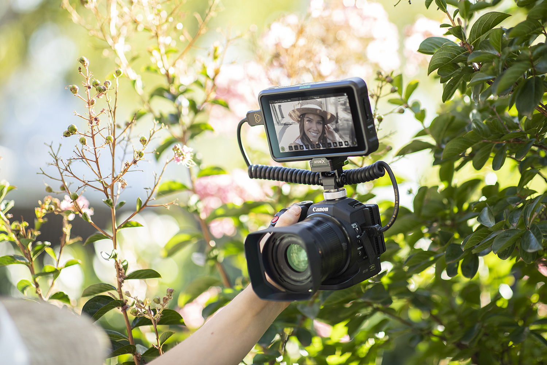 Moniteur vidéo externe : usage vlog.