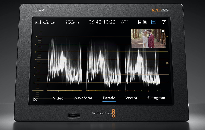 Moniteur vidéo externe : scope.