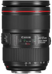 Objectif photo Canon ef 24-105 mm f/4 L II usm (10,7 cm - 795g)