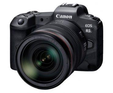 Canon EOS R5 : face.