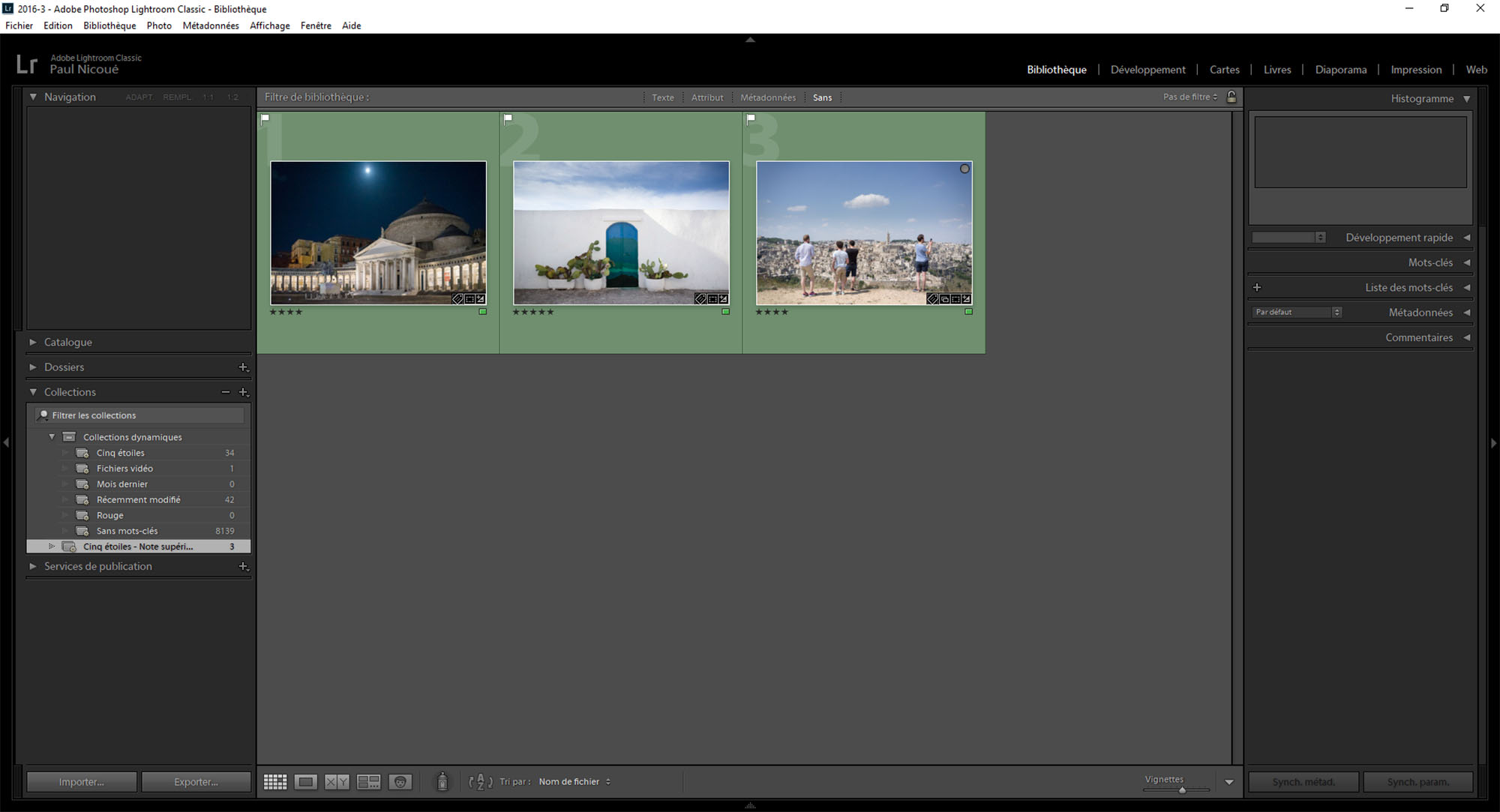 Lightroom : utiliser les collections