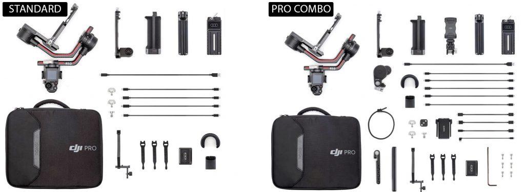 DJI Ronin S2 pack standard vs PRO COMBO