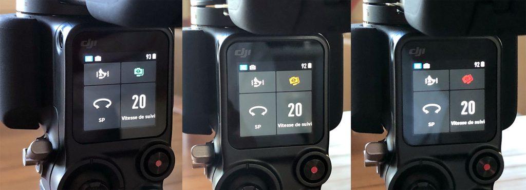 Ecrans de contrôle des moteur DJI Ronin S2