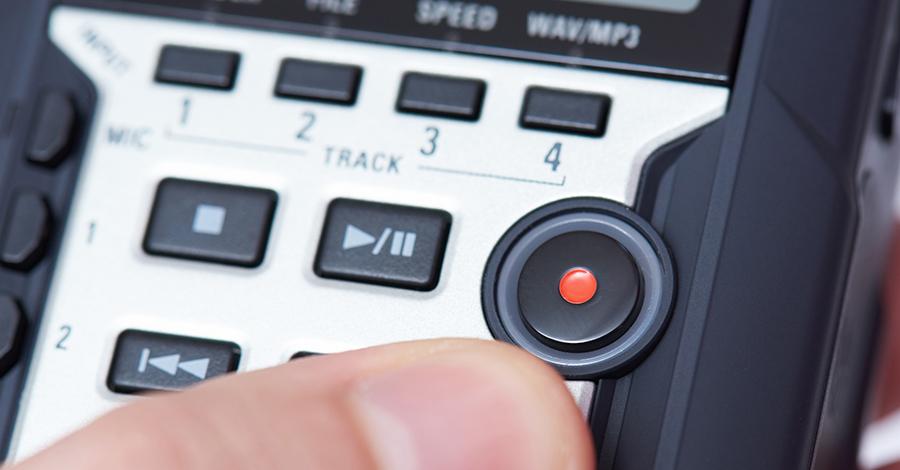 Enregistreurs audio externes : ouverture.