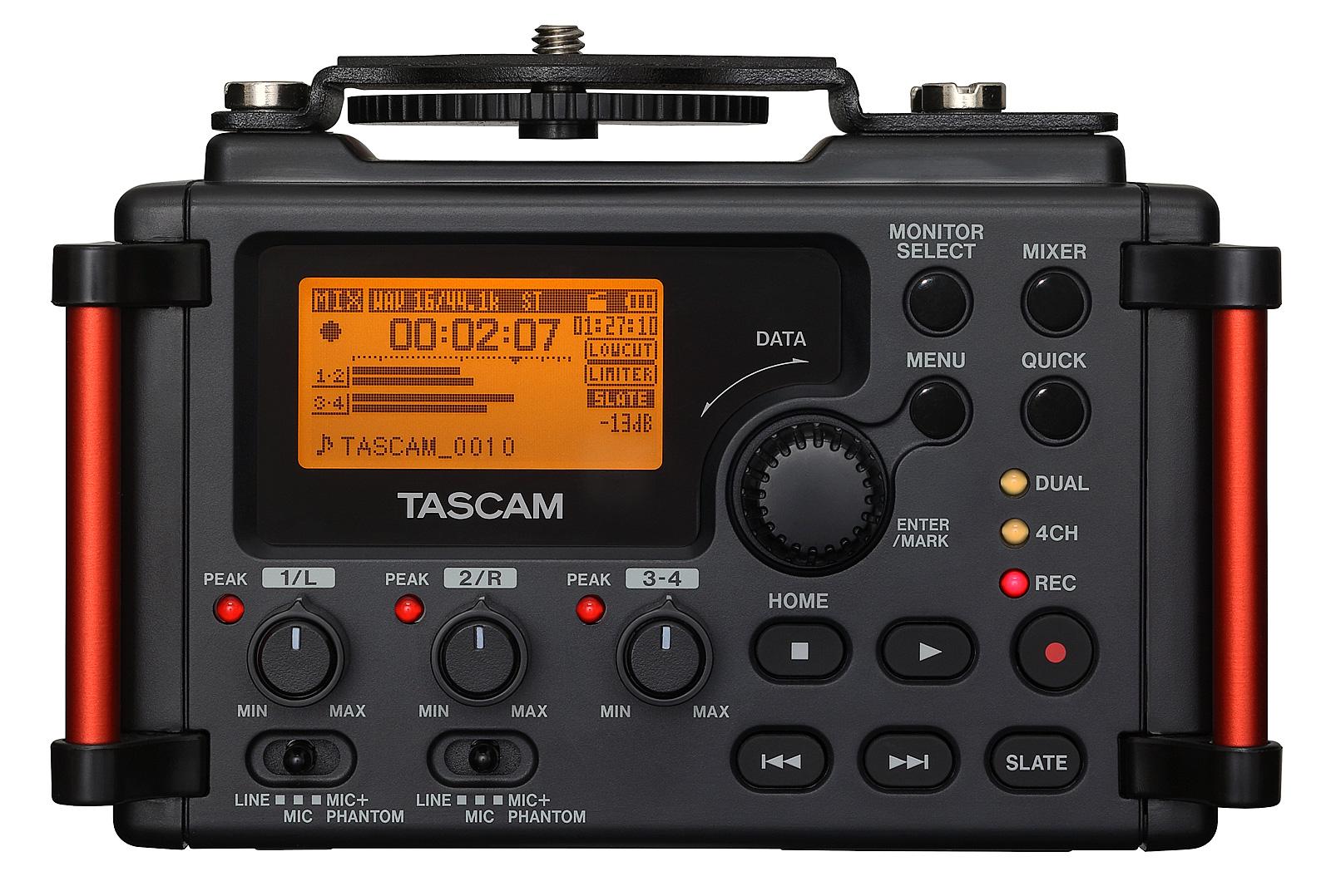 Enregistreurs audio externes : Tascam DR-60D MKII.