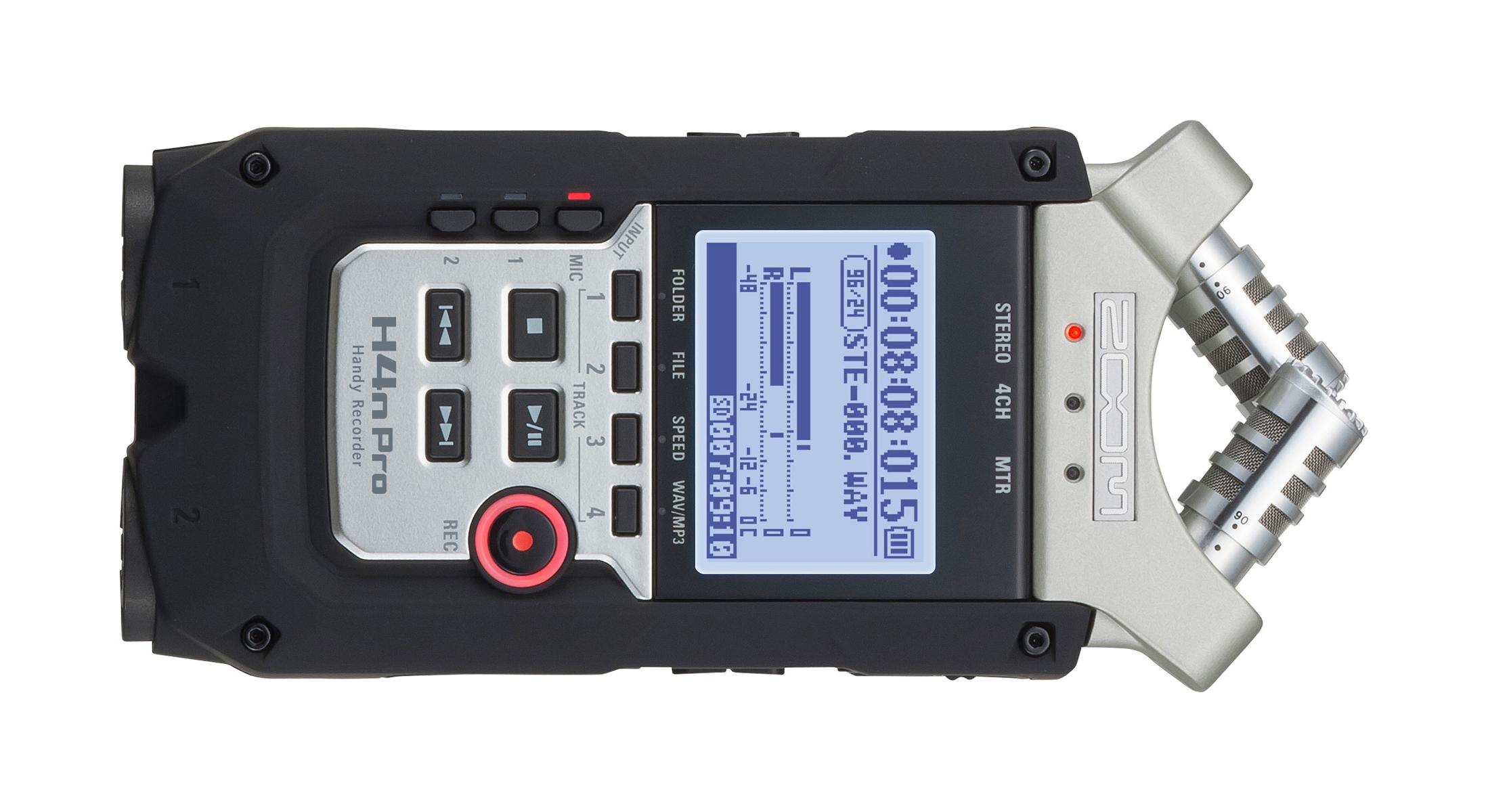 Enregistreurs audio externes : Zoom H4N PRO.