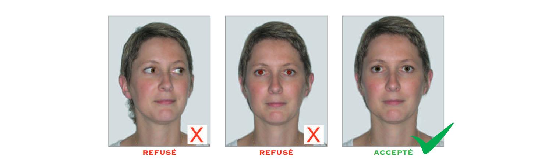Norme photo d'identité : regard et expression