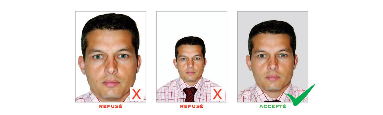 Norme photo d'identité : format