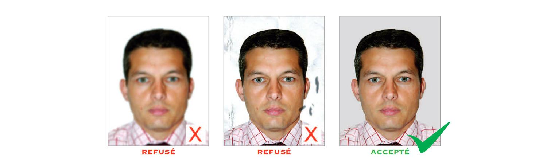 Norme photo d'identité : qualité de la photo