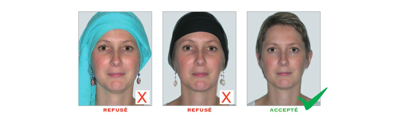 Norme photo d'identité : tête