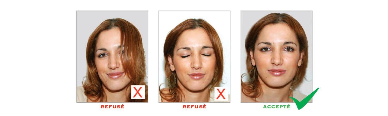 Norme photo d'identité : visage et yeux