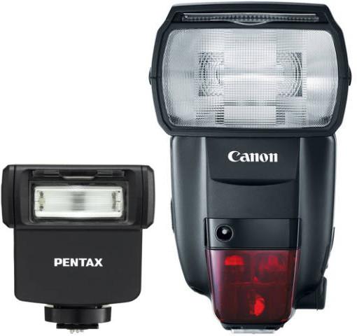 Comparaison du Pentax AF 201 FG et du Canon Speedlight 600EX II RT