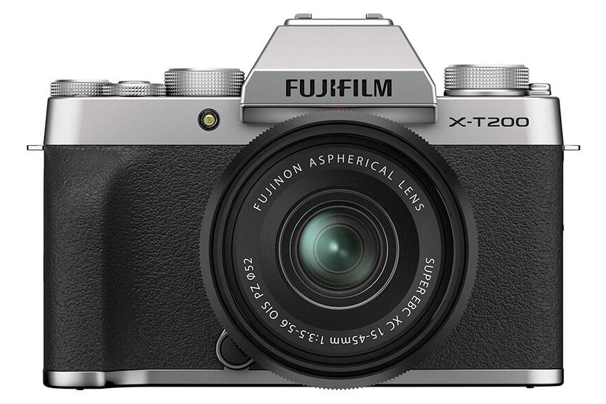 Le Fujifilm X-T200 : face.