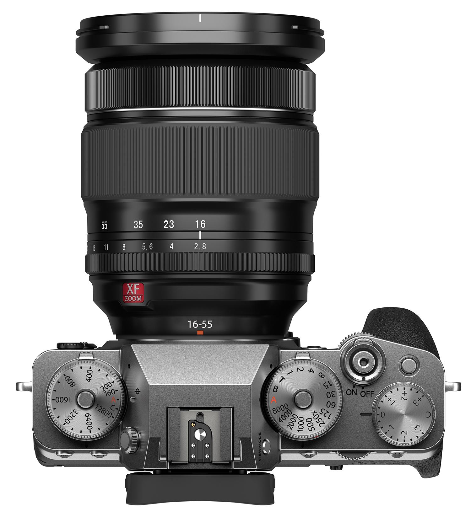 Fujifilm X-T4 : dessus.