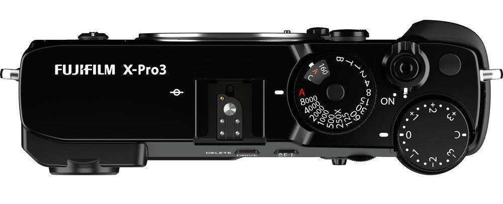 Fujifilm X-Pro3 : dessus.
