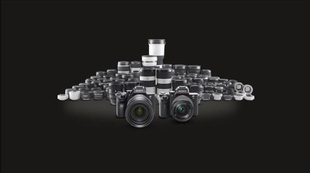 Gamme optiques Sony E-Mount.